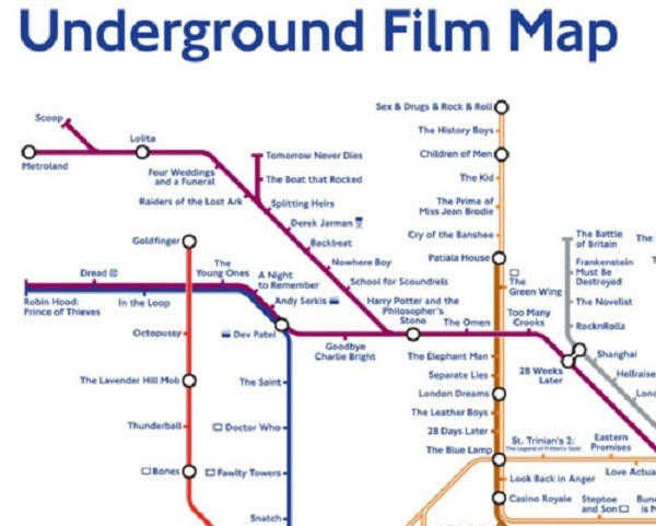 Unusual London Map, Alternative London tube map, unusual metro map, Underground film